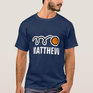 Cooles Basketball-Shirt mit Namen und T-Shirt