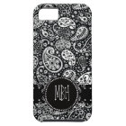 Cooles Black Country Paisley mit Wirblem iPhone 5 Schutzhülle