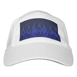 Cooles Blau, das Flammen läuft Headsweats Kappe