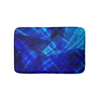 Cooles blaues Eis-geometrisches Muster Badematte