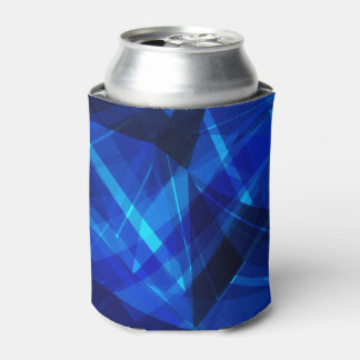 Cooles blaues Eis-geometrisches Muster Dosenkühler