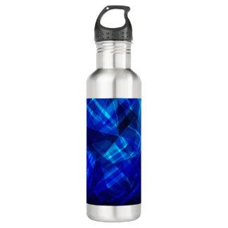 Cooles blaues Eis-geometrisches Muster Edelstahlflasche