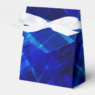 Cooles blaues Eis-geometrisches Muster Geschenkschachtel