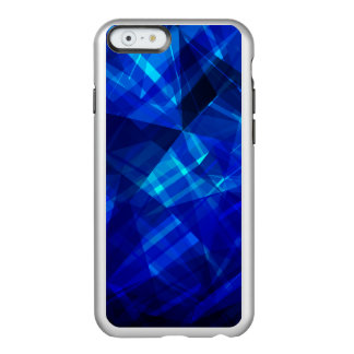 Cooles blaues Eis-geometrisches Muster Incipio Feather® Shine iPhone 6 Hülle