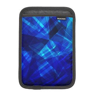 Cooles blaues Eis-geometrisches Muster iPad Mini Sleeve