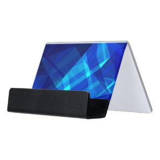 Cooles blaues Eis-geometrisches Muster Schreibtisch-Visitenkartenhalter