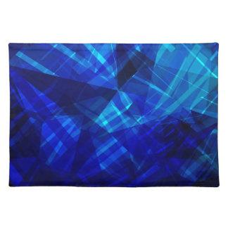 Cooles blaues Eis-geometrisches Muster Stofftischset