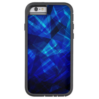 Cooles blaues Eis-geometrisches Muster Tough Xtreme iPhone 6 Hülle