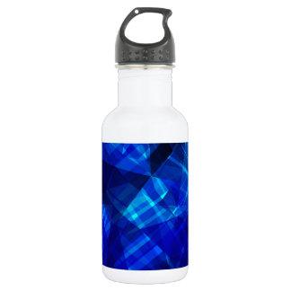 Cooles blaues Eis-geometrisches Muster Trinkflasche