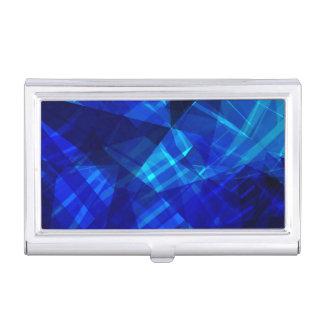 Cooles blaues Eis-geometrisches Muster Visitenkarten Dose