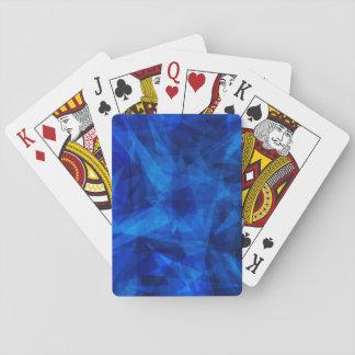 Cooles blaues Eisgeometrische Shards Spielkarten