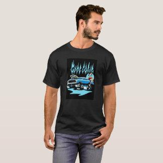 """""""Cooles blaues"""" frisiertes Auto und Pinup-T - T-Shirt"""
