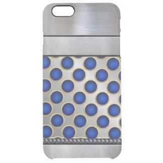 Cooles blaues Muster iPhone des Silber-3D plus Durchsichtige iPhone 6 Plus Hülle