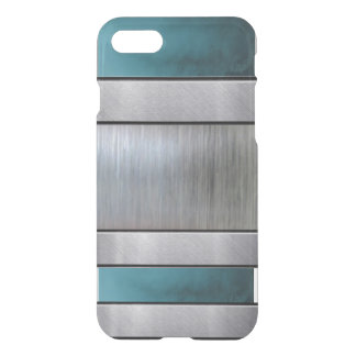 Cooles blaues Muster iPhone des Silber-3D plus iPhone 7 Hülle