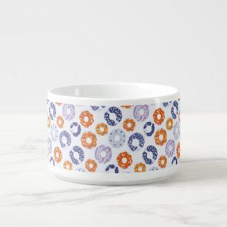 Cooles blaues orange Muster der Kleine Suppentasse