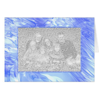 Cooles blaues Pool (Fotorahmen) Karte