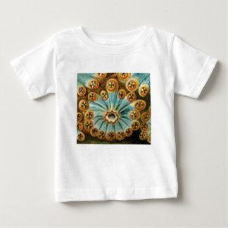 cooles blaues Sahnemuster Baby T-shirt