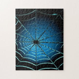 Cooles blaues Spinnen-Netz Puzzle