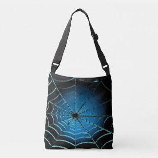 Cooles blaues Spinnen-Netz Tragetaschen Mit Langen Trägern