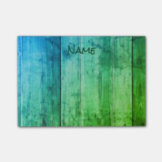 Cooles Blaues und grün Post-it Haftnotiz