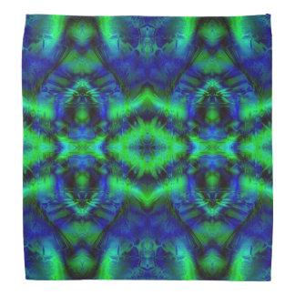 Cooles blaues und grünes Muster Halstuch