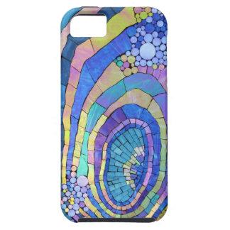Cooles buntes Mosaik-Spirale-Muster iPhone 5 Schutzhülle