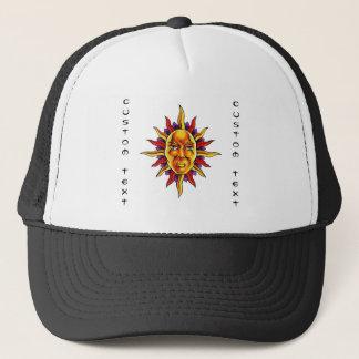 Cooles Cartoontätowierungssymbol Sun stellen Truckerkappe