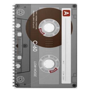 Cooles CassetteTape Notizbuch Spiral Notizblock