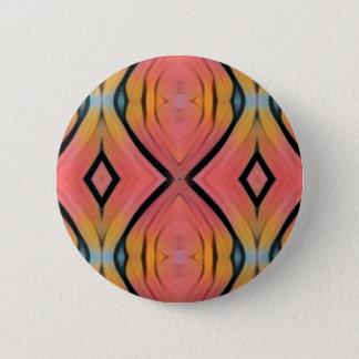 Cooles Chic-Pfirsich-Rosa-Kaleidoskop-Muster Runder Button 5,1 Cm