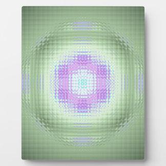 Cooles Chic-Rosa-Grün-Mosaik-Muster Fotoplatte