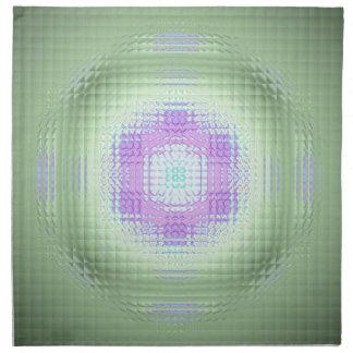 Cooles Chic-Rosa-Grün-Mosaik-Muster Stoffserviette