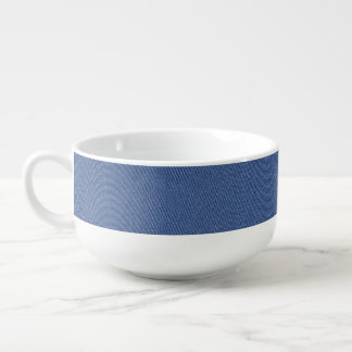 Cooles Denim-blaue Jeans Große Suppentasse