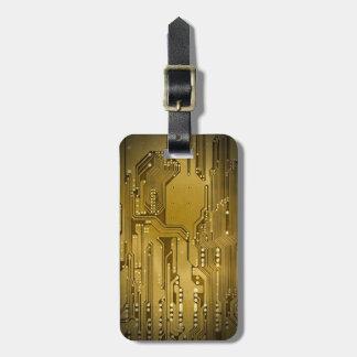Cooles elegantes Imitat-Goldleiterplatte-Schwarzes Kofferanhänger