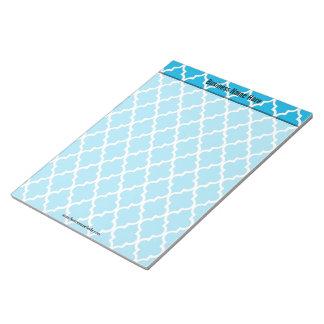 cooles, elegantes, klassisches Aquablau quatrefoil Notizblock