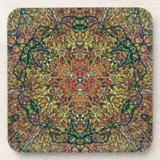 Cooles erdiges Herbstfarbenmandala-Muster Untersetzer