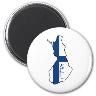 Cooles Finnland Runder Magnet 5,1 Cm