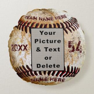 Cooles Foto und personalisiertes Baseball-Kissen Rundes Kissen