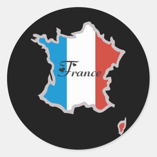 Cooles Frankreich Runder Aufkleber