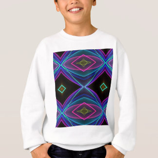 Cooles Funky Leuchtstoff farbiges Neonmuster Sweatshirt
