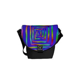 Cooles Funky Regenbogen-Labyrinth-Rollen-Kreis-Ber Kuriertaschen