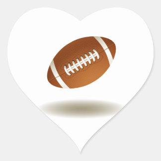 Cooles Fußball-Emblem Herz-Aufkleber