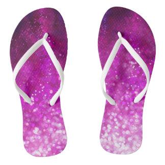 Cooles Galaxiemuster des hellen rosa Flip Flops
