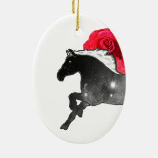 Cooles Galazy Pferdeschwarzes + Weißer Nebelfleck Keramik Ornament