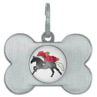 Cooles Galazy Pferdeschwarzes + Weißer Nebelfleck Tiermarke