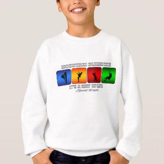 Cooles Gebirgsklettern ist- es eine Lebensart Sweatshirt
