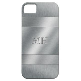 Cooles gebürstetes Metallblick-Monogramm iPhone 5 Schutzhülle