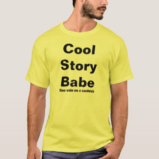 Cooles Geschichten-Baby machen mich ein Sandwich T-Shirt