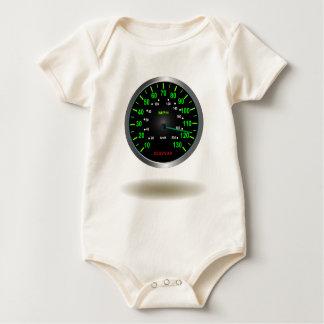 Cooles Geschwindigkeitsmesser-Emblem Baby Strampler