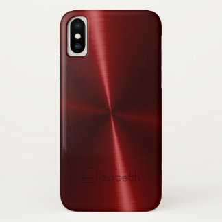 Cooles glänzendes Radialstahlmetall iPhone X Hülle