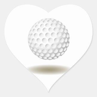 Cooles Golf-Emblem Herz-Aufkleber